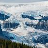 Crowfoot Glacier flows into Bow Lake