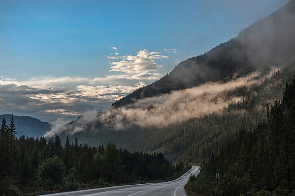 Clouds form over the Icefields Parkway