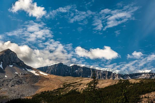 Glacier along ridge.