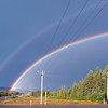 Driving along the highway we came across a splendid full and double rainbow.