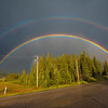 Double Rainbow at Nordegg AB Aug 8 13.