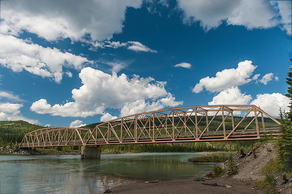 This bridge across the Saskatchewan River escaped the violent floods earlier in June.