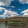 This bridge across the Saskatchewan River escaped the violent floods earlier in June.
