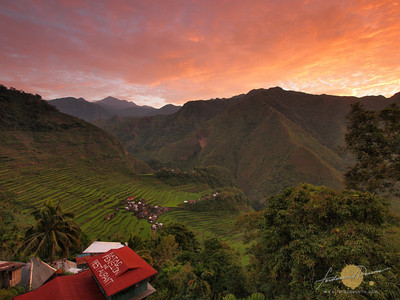 Sunrise Over Batad Rice Terraces