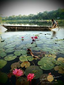 Lake Sebu Tending the Nets
