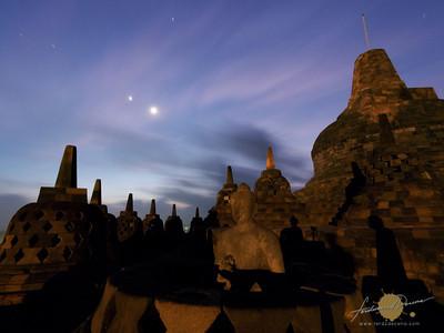 Borobudur Dawn Sky