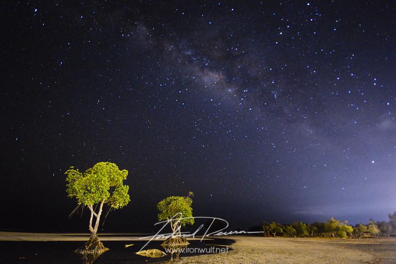 Milky way over the landmark mangroves of Microtel by Wyndham Puerto Princesa