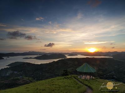 Calamianes Sunset at Mt Tapyas - Coron
