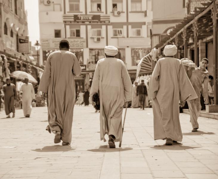 Three Men in Aswan