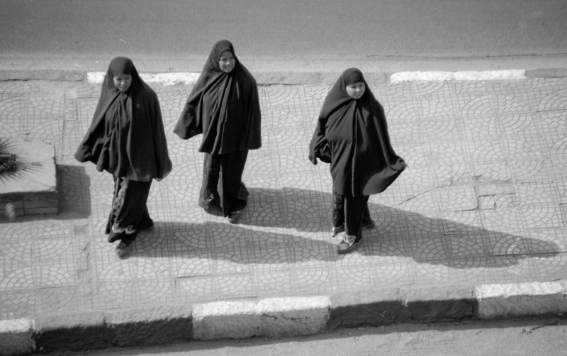Three Women in Burkas