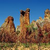 Spectacular weathered sandstone formations