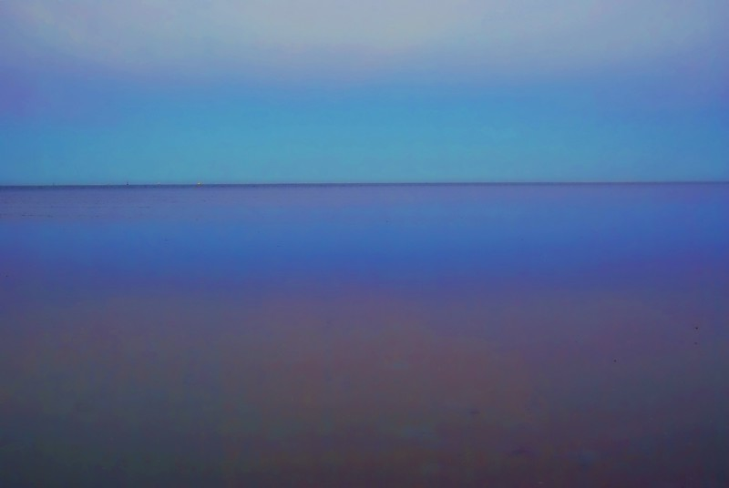 """""""The blue ocean"""" in the blue hour"""