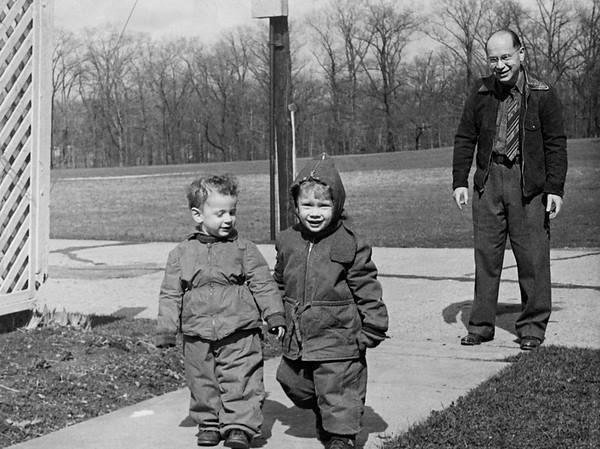 Hugh, Alec, and Dad 1948