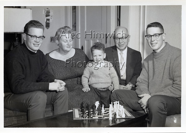 Alec, Mina, Ed, Harold, and Hugh Himwiich about 1963