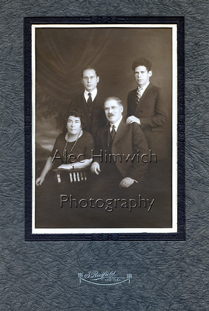 Rose Igelska, Adolph Abram, Harold Edwin and Alfred Woodward Himowich