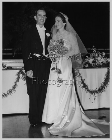Jean and John Maguire Wedding, restored photo