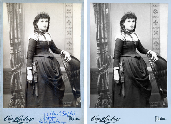 Sophie Himowich immigrated to the U.S.A. with her family in 1881.  Her family consisted of her father Frederick Himowich, mother Rebecca Finkel, and brothers Adolph Abram Himowich and Nathan Himowich.