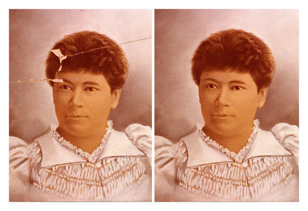 Scan of original phota and restoration of Rose Igelska, mother of Harold E. Himowich.  Photo taken around the time of her graduation from Women's Medical College of New York, Infirmary for Women and Children, 1889