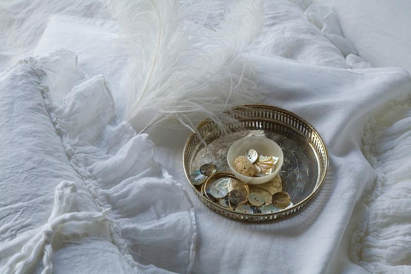 All in White: Linen Whisper Kidney Pillow, Linen Whisper Standard Pillowcase, Linen Whisper Duvet