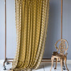 Silk Velvet Embroidered Curtain in Ginger