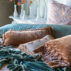Note: Satin Quilted is a discontinued fabric. Olivia Euro Sham in White over Linen Euro Slip in Perfect Peach, Satin Quilted Body Pillow in Seaglass, Loulah Kidney Pillow in Perfect Peach, Olivia Boudoir in Perfect Peach over Linen Boudoir in White, Silk Velvet Embroidered Standard Pillowcase in Perfect Peach, Loulah Throw Blanket in Seaglass, Satin Velvet Duvet Cover in Perfect Peach