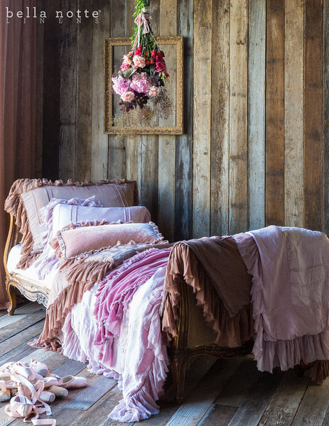 Note: Fawn and Rose Quartz are discontinued colors. Valentina Deluxe Sham in Fawn, Valentina Standard Sham in Rose Quartz, Loulah Kidney Pillow in Perfect Peach, Valentina Personal Comforter in Fawn, Valentina Personal Comforter in Rose Quartz, Loulah Large Throw Blanket in Rose Quartz