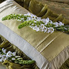 Valentina Kidney Pillow in Bottle Green, Colette Queen Duvet Cover in Bottle Green