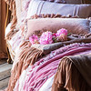 Note: Fawn and Rose Quartz are discontinued colors.Valentina Deluxe Sham in Fawn, Valentina Standard Sham in Rose Quartz, Loulah Kidney Pillow in Perfect Peach, Valentina Personal Comforter in Fawn, Valentina Personal Comforter in Rose Quartz, Loulah Large Throw Blanket in Rose Quartz