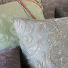 Mirabella Euro Sham in Mint Julep, Nina 20x20 Throw Pillow in Cool, Hendrix 20x20 Throw Pillow in Powder