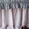 Linen Whisper Duvet Cover in French Grey, Linen Whisper Dust Ruffle in Powder