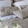 Grace Queen Duvet Cover, Grace Deluxe Shams, Homespun Standard Shams in White, Grace Accent Throw Pillows, Linen Queen Fitted Sheet in White, Linen Queen Flat Sheet in White, Allegra Kidney Pillow