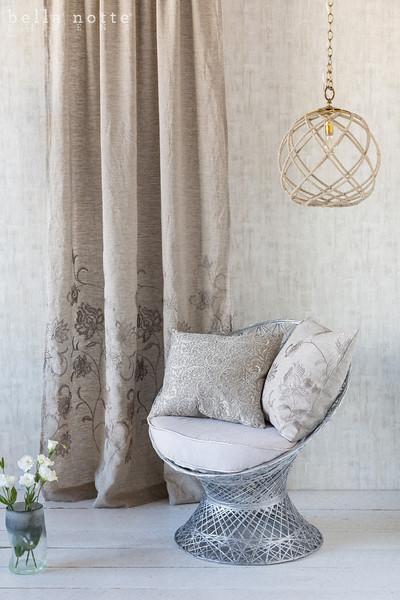 Grace Curtain Panel, Allegra 20x20 Throw PIllow, Grace 20x20 Throw Pillow