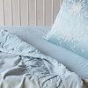 Chloe Baby Comforter in Seaglass, Josephine Accent Pillow in Seaglass, Trecento Crib Sheet in Seaglass, Linen Baby Dust Ruffle in Seaglass