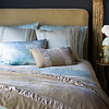 Madera Duvet Cover in Ginger, Arielle Deluxe Shams in Seaglass, Arielle Euro Shams in Sand, Ophelia Standard Pillowcase in Cool, Arielle Personal Comforter in Seaglass, Sloan Accent Pillow in Sand, Sloan Personal Comforter in Sand