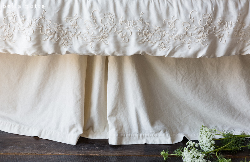 Josephine Personal Comforter and Chloe Bed Skirt in Champagne