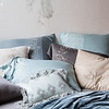 Josephine Deluxe Sham in Mineral, Josephine Euro Sham in Seaglass, Olivia Standard Pillowcases in Sand over Linen Standard Pillowcases in Sand, Josephine Standard Pillowcases in French Grey, Josephine Standard Pillowcase in Seaglass, Josephine Standard Pillowcase in Sand, Olivia Boudoir in Mineral over Linen Boudoir in Seaglass, Sloan Large Throw Blanket in Mineral