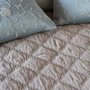 Marseille Coverlet in Fog, Josephine Accent Pillows in Cloud