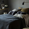 Silk Velvet Quilted Deluxe Sham in Sand, Arielle Euro Sham in French Grey, Sloan Accent Pillows in French Grey, Arielle Accent Pillow in Fog, Silk Velvet Quilted Coverlet in Fog, Madera Pillowcase in Fog, Madera Sheets in Fog