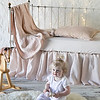 All in Pearl: Adele Baby Blanket, Carmen Kidney Pillow, Madera Luxe Crib Sheet, Linen Crib Skirt