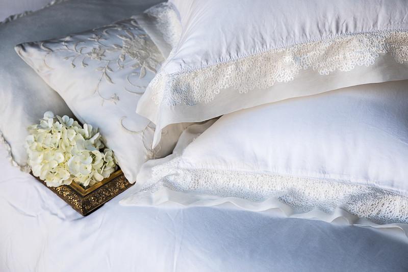 All in Winter White: Josephine Accent Pillow, Persephone Standard Shams