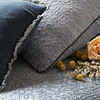 All in Mineral: Vienna Royal Sham, Carmen Lumbar Pillow, Madera Luxe Flat Sheet, Vienna Duvet Cover