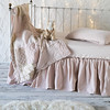 All in Pearl: Sophia Baby Comforter, Helane Kidney Pillow, Linen Crib Sheet, Helane Crib Skirt