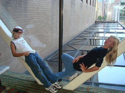 Fun in the skyway in Chicago, 2007