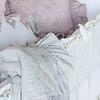 Pennelope Bumper in White, Trecento Crib Sheet in White, Olivia Boudoir in Powder over Linen Boudoir Liner in White, Pennelope Boudoir in Powder, Pennelope Baby Blanket in Pebble