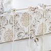 Zia Crib Bumper in Natural, Zia Baby Dust Ruffle in Natural, Linen Crib Sheet in White, Linen Whisper Kidney Pillow in White
