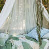 Sophia Personal Comforter in Mint Julep, Loulah Kidney Pillow in Mint Julep, Hendrix Throw Pillow in Silvermist, Linen Whisper Curtains in Mint Julep