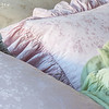 Celeste Deluxe Sham in Sand, Pennelope Euro Shams in Petal, Valentina Kidney Pillow in Mint Julep
