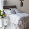 Hayden Queen Duvet Cover in White, Trecento Euro Shams in White, Hayden Standard Shams in White, Linen Standard Shams in White, Linen Dust Ruffle in White