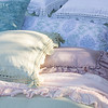 Linen Whisper Queen Duvet Cover in Mint Julep, Linen Whisper Euro Shams in Mint Julep, Linen Standard Shams with Crochet Lace in White, Zia Bolster in Cool, Hendrix Throw Pillow in Pacific, Linen Whisper Kidney Pillow in Powder, Linen Standard Sham with Crochet Lace in Mint Julep, Linen Whisper Queen Bed Scarf in Petal