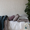 Silk Velvet Quilted Large Throw Blanket in Mineral, Hayden Twin Duvet Cover in French Grey, Linen Twin Duvet Cover in White, Linen Twin Fitted Sheet in White, Hayden Deluxe Sham in French Grey, Linen Standard Sham in Mineral, Linen Standard Pillowcase in French Grey, Silk Velvet Quilted Square Pillow in Powder